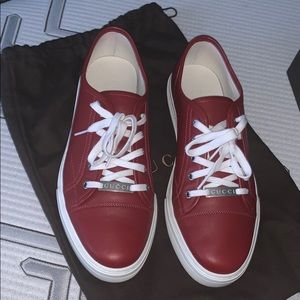 Red Gucci shoes 9mens